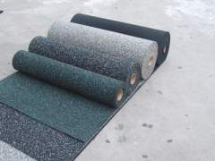 Rubberized flooring in rolls