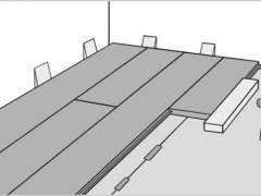 The scheme of mounting the laminate on a substrate