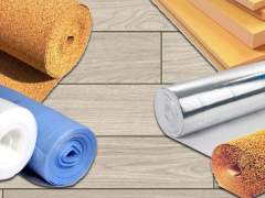 Different types of underlay for laminate