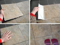 The technology of laying vinyl tile