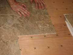 Correct installation of vinyl floor tiles