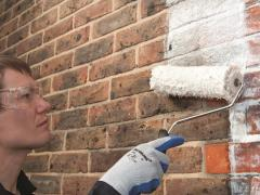 How to paint brick walls