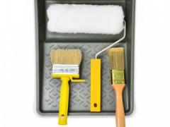 A set of tools for painting brick