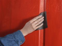 Proper preparation of the door for painting
