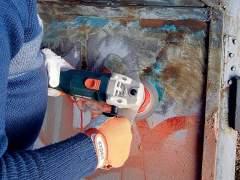 Prepare metal garage door for painting