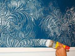 The original technique of painting the Wallpaper with a brush