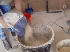 Preparation of mortar for plastering