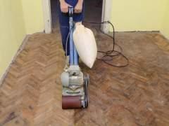 Refinish parquet floors