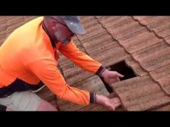 How to remove concrete roof tiles