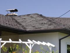 Old roof requiring immediate replacement
