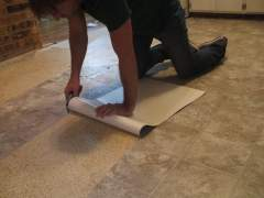 Correct deletion of vinyl floor