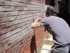How to repair brick wall