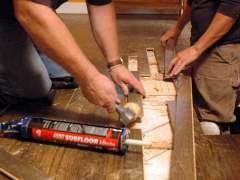 Repair parquet floor