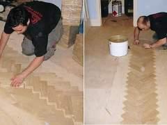 Repair flooring step by step