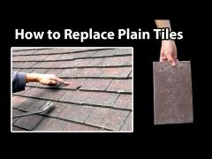 How to replace a broken roof tile