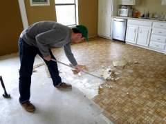 Remove old linoleum