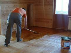 Treatment of wooden floors from rotting