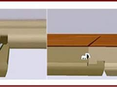 The scheme of mounting the laminate