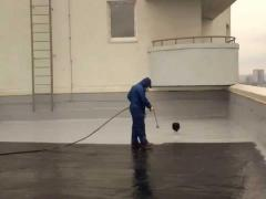 Use liquid rubber for waterproofing
