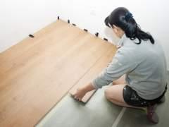 Laying luxury vinyl flooring