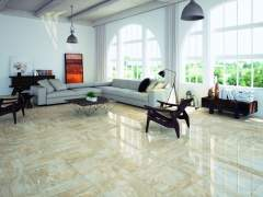 Glossy floor of marble