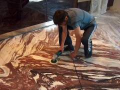 Professional care for marble flooring