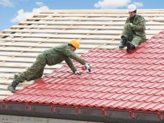 Installation of metal roofing