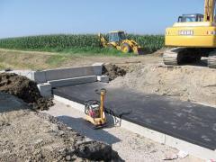 Precast concrete foundation