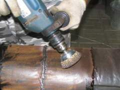 Preparation of metals for painting by mechanical means