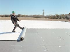 Installation of PVC membrane
