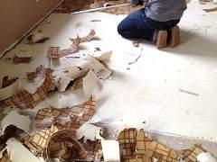 Remove linoleum flooring