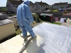 Roof insulation with special foam