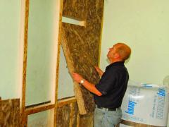 Stud wall insulation