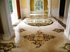 Floor made of marble stone