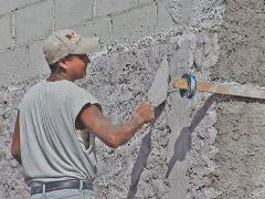 Cement plaster for waterproofing