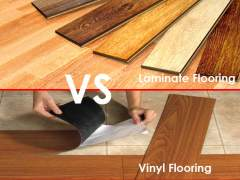 Compare vinyl and laminate
