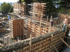 The design of the formwork wall