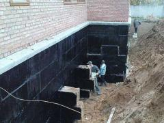 Bitumen waterproofing in construction