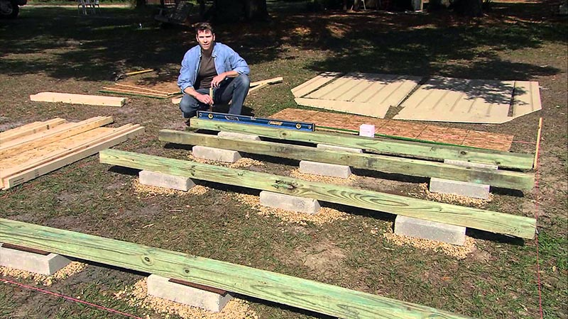 Describing the easiest way of building a shed foundation with your own hands